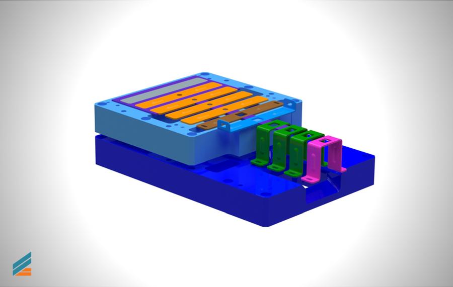 NX CAD Stante progresive - Lectia 13 - Modelarea plăcilor port-matriță