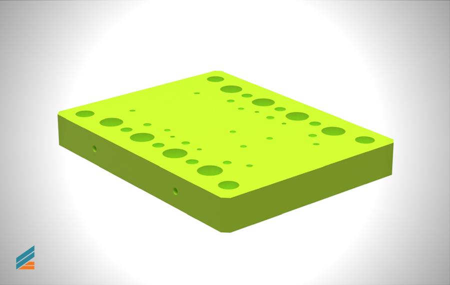 NX CAD Stante progresive - Lectia 21 - Placa de bază superioară