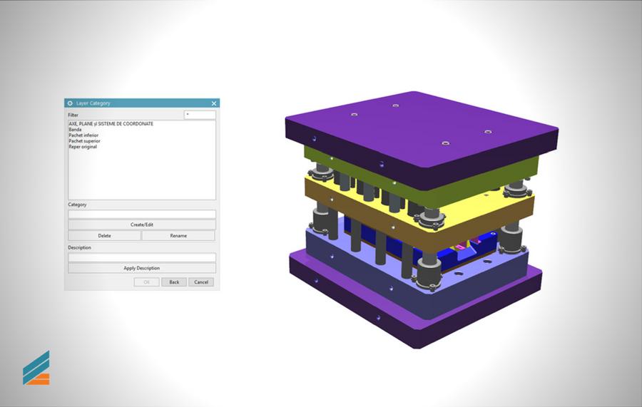 NX CAD Stante progresive - Lectia 29 - Structurarea pe straturi